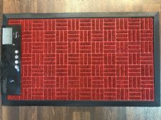 NON SLIP DOORMATS 45CMX75CM RUBBER BACKING GOOD QUALITY MORE COLOURS RED!!